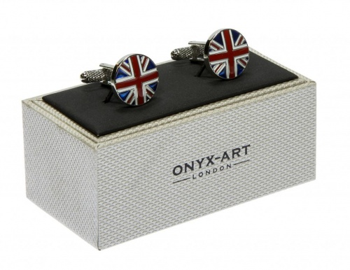 Round Union Jack Flag Cufflinks
